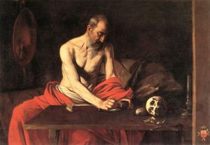 São Jerônimo escrevendo - Caravaggio